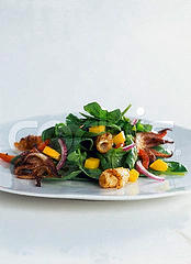 Grilled Squid and Mango Salad