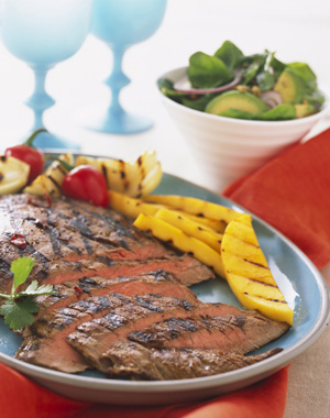 Flank Steak with Red Wine