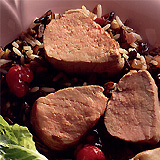 Pork Tenderloin with Raspberry Mint Sauce