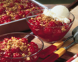 Coconut Topped Cherry Crisp