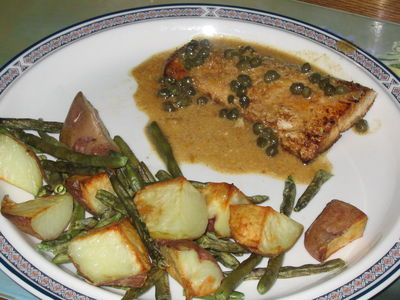 Fillets with Caper Sauce
