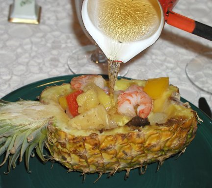 Pineapple flamb