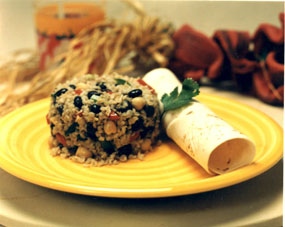 Chicken-Bulgur with Minted Yogurt Sauce